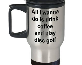 Funny Disc Golf Travel Mug - Stainless Steel