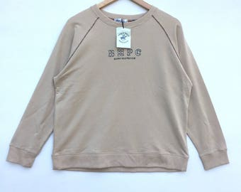 Deadstock!! Bhpc Sweatshirt Big Logo Spell Out Pull Over Jumper