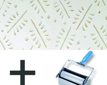 Pattern Paint Roller Kit DIY Wallpaper - Twiggy Pattern (upgrade to Double Applicator)