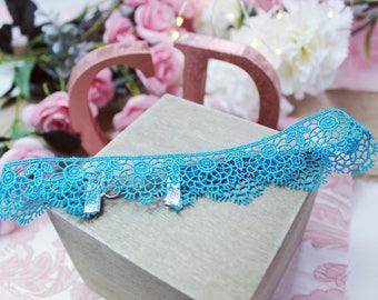 Blue Lace Choker