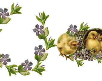 Violet Wreath Etsy