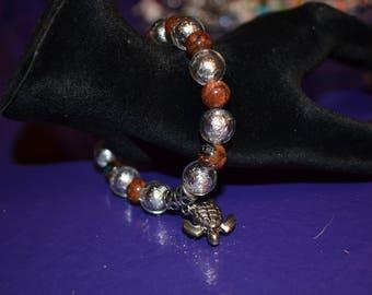 Sea Turtle Charm Bracelet 6 inches