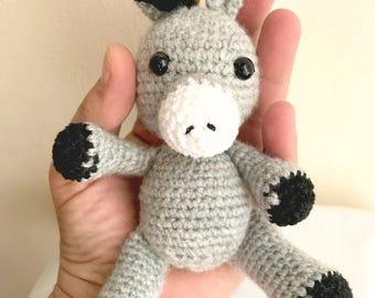 Amigurumi donkey - Donkey - Crochet donkey- Amigurumi animals- Stuffed animal- Amigurumi doll- Donkey crochet- Crochet amigurumi