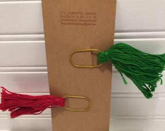 Tassle Paperclip Bookmarks- Christmas Colors!