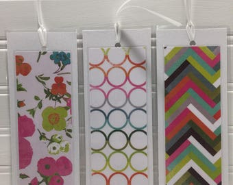 Geometric Design meets Girly Bookmarks
