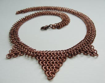 Hestia handmade copper necklace