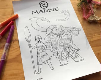 Colouring In Sheets (Personalised)