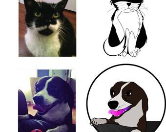 Custom Pet and Replica Illustrations