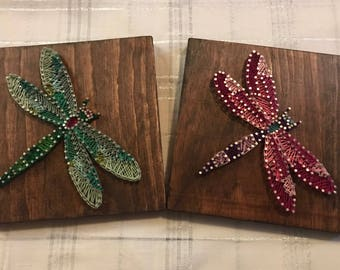 Dragonfly String Art