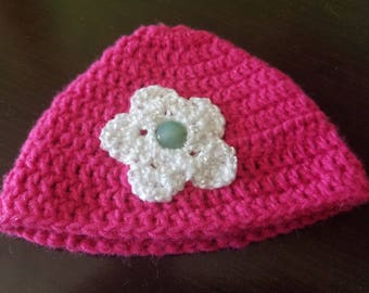 Charming crocheted hat for toddler.