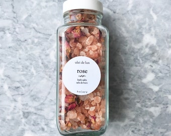 Rose Bath Salts | Himalayan Bath Soak | Botanical Bath | Detox Bath | Sels de Bain