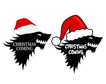 Wolf Christmas is coming Winter Cuttable Design PNG DXF SVG & eps File Silhouette Designs Cameo