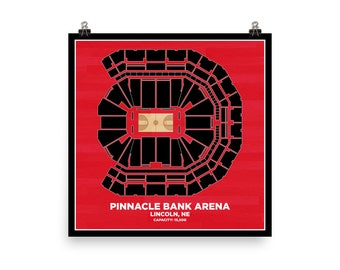 Pinnacle Bank Arena Wall Art - University of Nebraska Cornhuskers Basketball