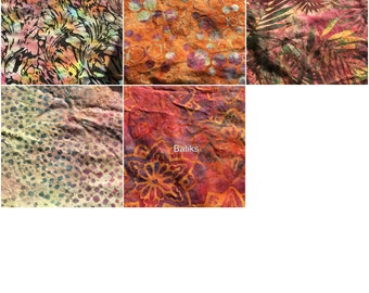 """Custom BATIKS cloth pad 5.75"""" to 16"""" with Zorb core and waterproof backing"""