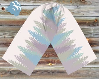 Pastel Trees Rectangle Scarf