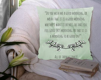 Gandalf and Bilbo Quote Pillow // The Hobbit // Lord of the Rings