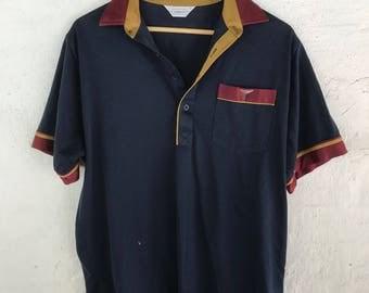 Retro Vintage 70s Polo - Size L