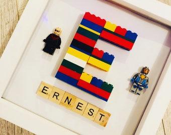 Personalised lego box frame