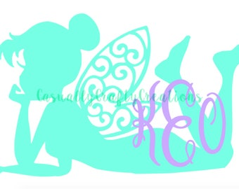 Tinkerbell Monogram Decal