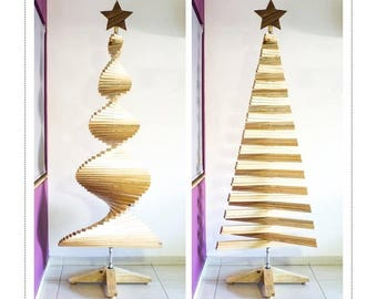Navileño // Wooden Christmas tree // Pine wood // Compact & sustainable // 3 sizes (100 - 170 - 230 cm) // 4 star designs
