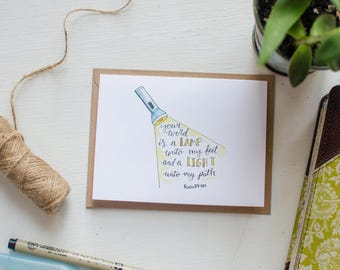 Bible Verse Note Card (Psalm 119:105)