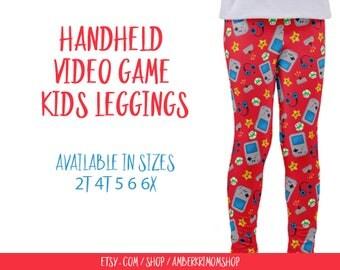 Toddler Leggings / Handheld Video Game Toddler Leggings / Video Game Gift / Video Game Kids Leggings / Video Game Pants / Toddler Gift