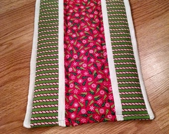 Christmas Themed Hand Quilted Table Runner