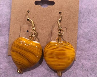 Yellow Heart Earrings
