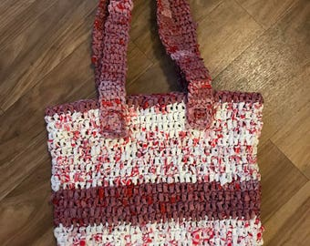 Recycled Plastic Bag Shoulder Tote