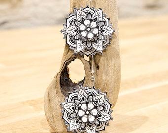 "mandala flower - Collection ""My paper Garden"" earrings earing paper flower ""my garden paper"""