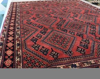 RARE!  Fantastic Tribal design Persian Rug! 6.7x9.6