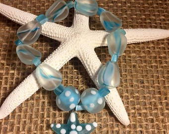 Beaded bracelet with starfish charm