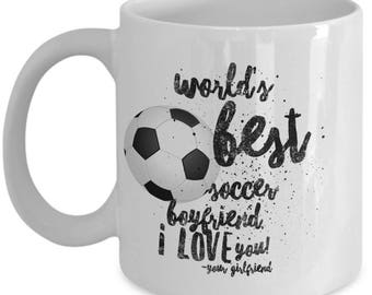 WORLD'S BEST Soccer Boyfriend! Coffee Mug