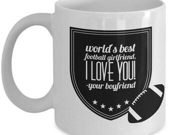 WORLD'S BEST Football Girlfriend! Coffee Mug