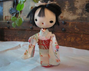 Hand made Vintage Japanese Geisha doll