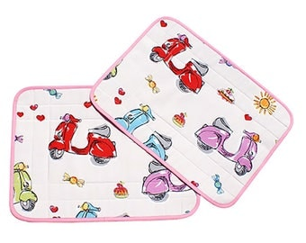 "Set of two placemats Judy ""Scooter"""
