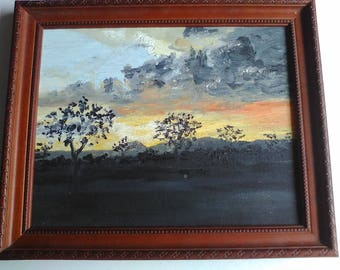 Oil Painting Landscape Sunset Mudgee Sunset
