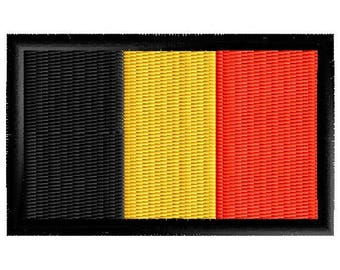 Flag Of Belgium embroidered patch