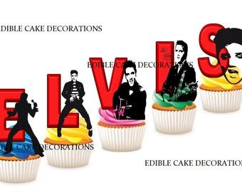 Elvis cake topper   Etsy