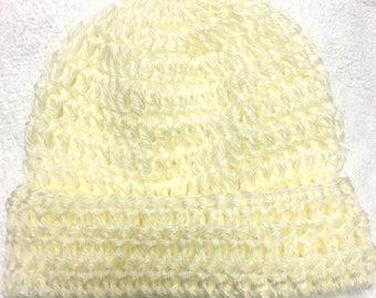 Handmade crocheted classic baby/toddler beanie