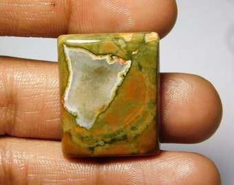 AAA quality Rhyolite Cabochon,Loose Stone,Gemstone,Gorgeous Rhyolite Cabochon Excellent Gemstone 100%Natural 44.80cts.(28x22x6)mm