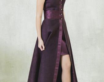 Женские платья,платье, Beige Dress, wool dress,midi, winter dress, elegant dress, Felted dress, Fall clothing, Long sleeve, Warm Dress, Soul