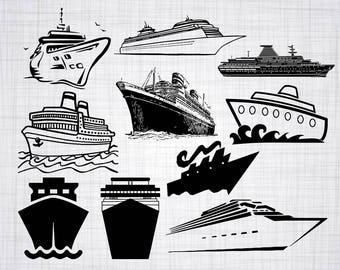 Cruise Ship SVG Bundle, Cruise Ship SVG, Cruise Ship Clipart, Cut Files For Silhouette, Files for Cricut, Vector, Svg, Dxf, Png, Eps, Decal