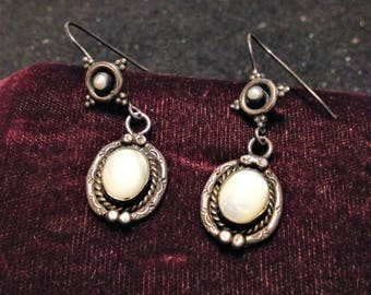Western Chic Vintage Silver Earrings