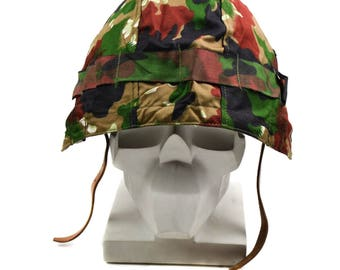 Original Swiss army military helm M71 cover alpenflage Camo
