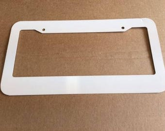Blank Frame-- 0320 Sublimation License Plate Frames = FLAT TYPE