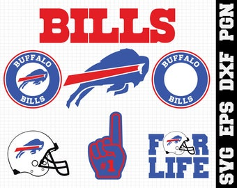 Buffalo Bills Nfl,SVG File-png ,dxf,eps,nfl svg,SVG File for Cameo,Cricut & other electronic cutters Silhouette Cut Files,Cricut Cut Files