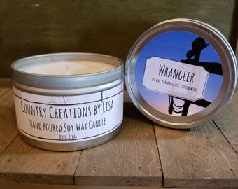 Wrangler Hand Poured Soy Wax Candle