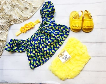 Free Shipping to US and PR, Pineapple crop top,Pineapple inspired,Crop top,Croptop,Top,Cotton Pineapple,Pineapple,Bloomer,Shoes
