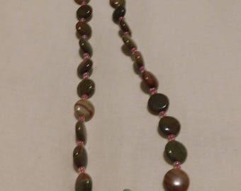 handmade beaded necklace using jasper